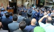 Charge Danny Hall at the launching of the Community Policing Program at the Ashrafieh Police station