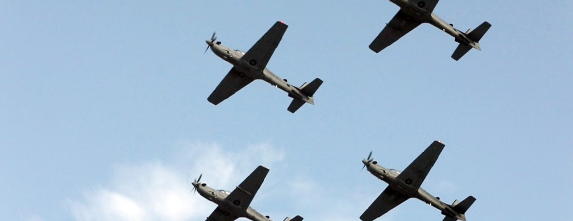 The United States Delivers Four A-29 Super Tucano Aircrafts to the LAF
