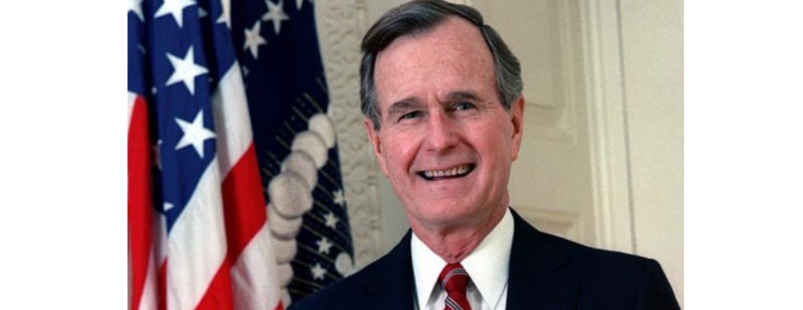 George Herbert Walker Bush;  June 12, 1924 – Nov. 30, 2018;  41st President of the U.S.A.