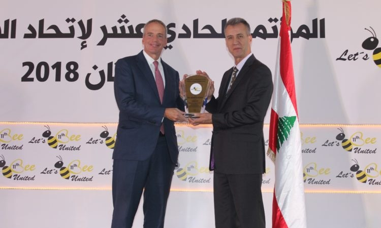 U.S. Chargé d'Affaires, Edward White, at the opening ceremony of the 11th International Conference of Arab Beekeepers Union, and the 10th Conference of the Beekeeping Federation of Mediterranean Countries